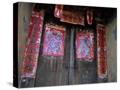 Chinese Door Gods, Yangdi Valley, Yangshuo, Guangxi, China
