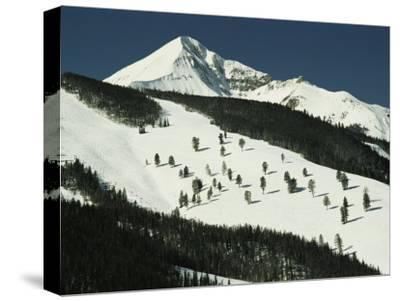 Elevated View of Slope at Big Sky Ski Resort