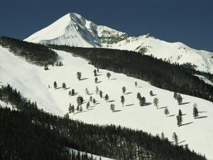Elevated View of Slope at Big Sky Ski Resort by Raymond Gehman