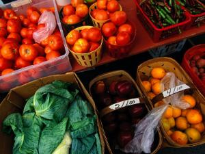 Farm Produce at a Local Farmers Market by Raymond Gehman
