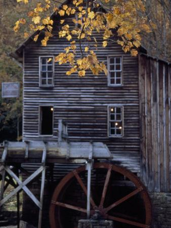 Fully Operational Grist Mill Sells its Products to Park Visitors by Raymond Gehman