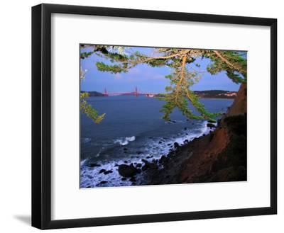Golden Gate Bridge Seen from Legion of Honor, Mile Rock Beach Area