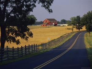 Historic Farm Buildings on the Site of Picketts Charge by Raymond Gehman