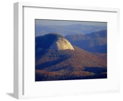 Looking Glass Rock, Surrounded by Forested Hills in Autumn Hues