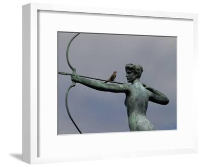 Mockingbird Atop a Bronze Sculpture of Diana by Augustus Saint-Gaudens
