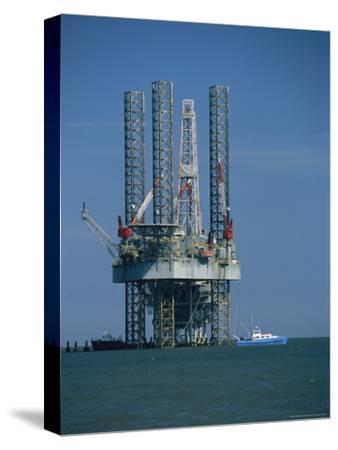 Oil Rig Under Construction