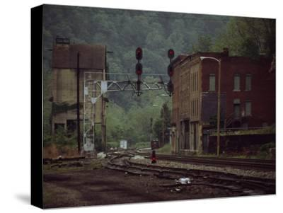 Railroad Junction Through the Old Town of Thurmond, West Virginia
