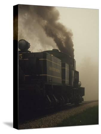 Smoke Billowing from the Engine of a Train on the Cass Scenic Railroad