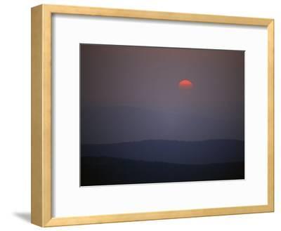 Sunrise over Allegheny Mountain Ridges