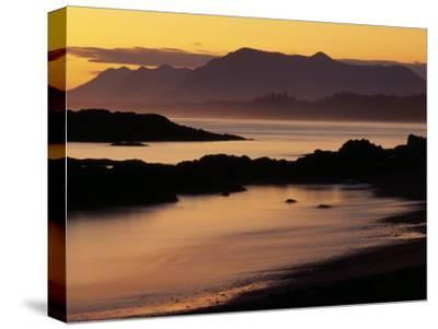 Sunset on the Mountains and Water at Long Beach on Vancouver Island
