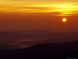 Sunset Over the Blue Ridge Mountains by Raymond Gehman