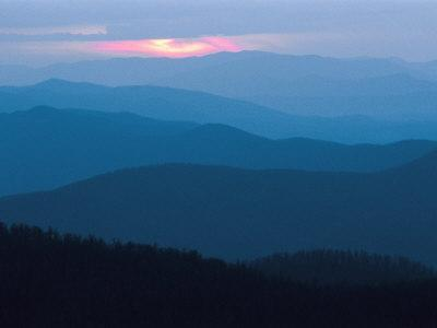 Twilight Covers the Ridges of the Blue Ridge Mountains