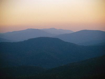 Twilight over the Blue Ridge Mountains View from Skyline Drive