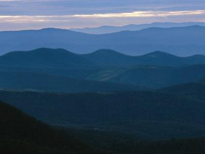 Twilight View of the Blue Ridge Mountains by Raymond Gehman