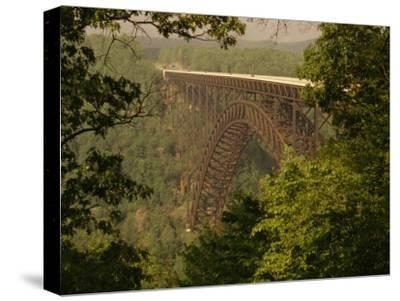View of the New River Gorge Bridge From One Side