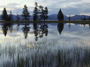 Yellowstone Lake at Dawn, Yellowstone National Park, Wyoming by Raymond Gehman