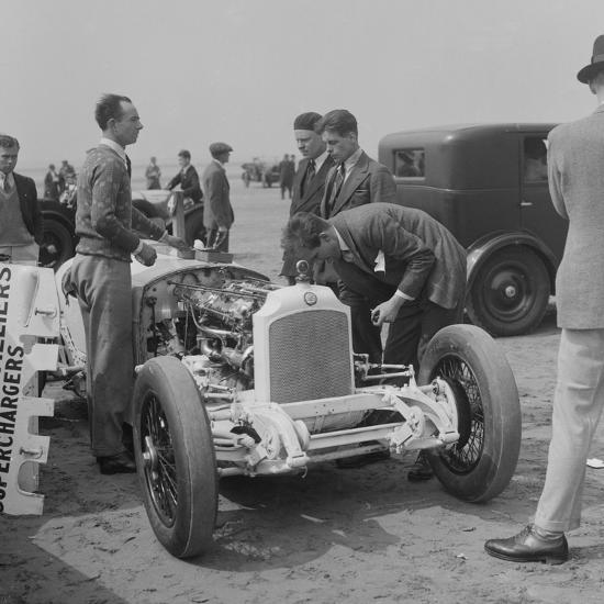 Raymond Mays Vauxhall-Villiers at a sand racing event, c1930s-Bill Brunell-Photographic Print