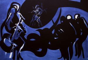 Jazz - Blue note by Raymond Moretti