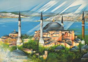Sainte Sophie à Istamboul by Raymond Poulet