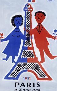 1951, Paris a 2.000 Ans by Raymond Savignac