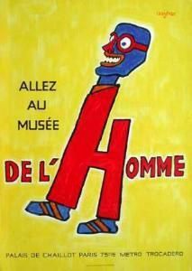 Allez au Musée de l'Homme by Raymond Savignac
