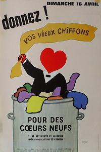 Donnez vos vieux chiffons by Raymond Savignac