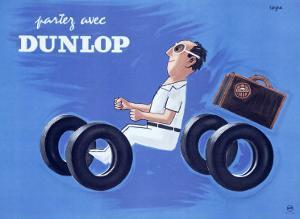 Dunlop Tires by Raymond Savignac