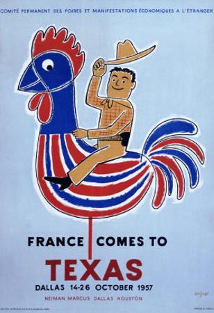 France comes to Texas, 1957 by Raymond Savignac