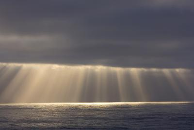 Rays from the Clouds over the Pacific Ocean, Santa Cruz, California-Chuck Haney-Photographic Print