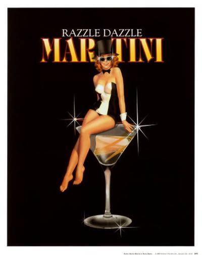 Razzle Dazzle Martini-Ralph Burch-Art Print