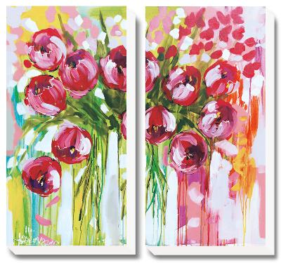 Razzle Dazzle Tulips-Amanda J^ Brooks-Canvas Art Set