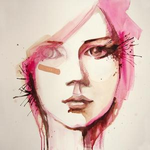 Watercolor Portrait of Beautiful Girl | Handmade | Self Made | Painting by re_bekka