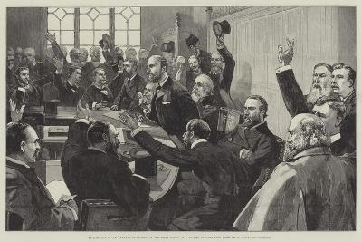 Re-Election of Mr Parnell as Leader of the Irish Party--Giclee Print