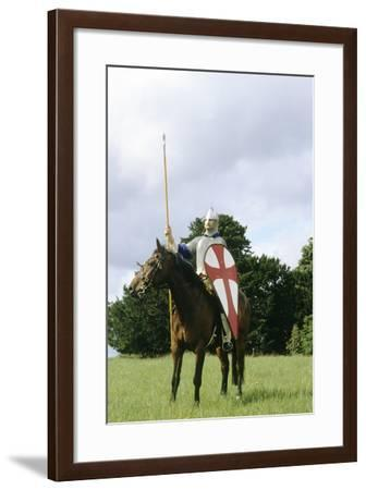 Re-Enactment, Norman Cavalry Soldier, 11th Century, Historical Re-Enactment--Framed Giclee Print