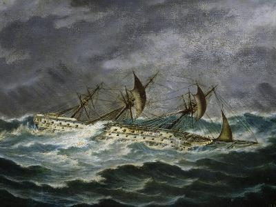 Re Galantuomo, Previously Monarca, Ship from Royal Navy of Kingdom of Two Sicilies-Antonio Gallizioli-Giclee Print