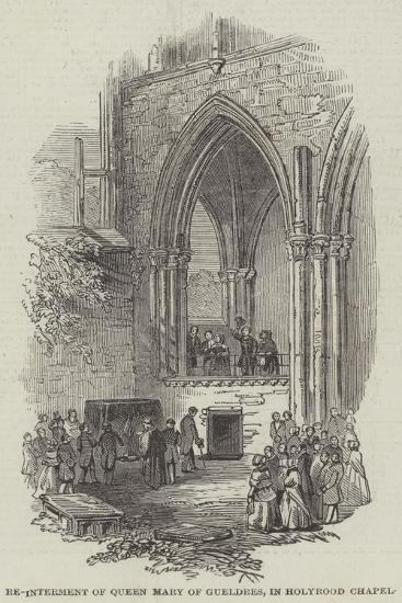 Re-Interment of Queen Mary of Gueldres, in Holyrood Chapel--Giclee Print