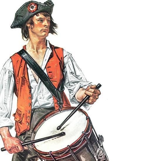 """Re-print of ""Colonial Drummer"","" July/Aug 1976-Joseph Christian Leyendecker-Giclee Print"