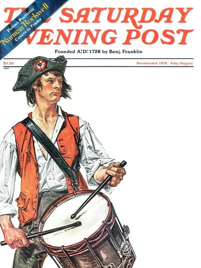 """""""Re-print of """"Colonial Drummer"""","""" Saturday Evening Post Cover, July/Aug 1976-Joseph Christian Leyendecker-Giclee Print"""