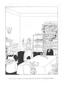 Mr. and Mrs. Schlink of Consumers' Research Sit Down to Thanksgiving Dinner - New Yorker Cartoon by Rea Irvin