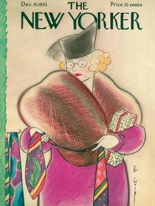 The New Yorker Cover - December 16, 1933 by Rea Irvin