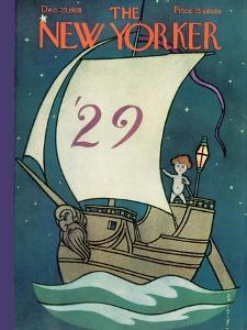 The New Yorker Cover - December 29, 1928 by Rea Irvin