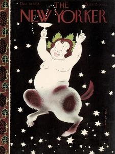 The New Yorker Cover - December 30, 1933 by Rea Irvin