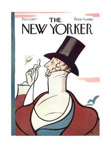 The New Yorker Cover - February 21, 1977 by Rea Irvin