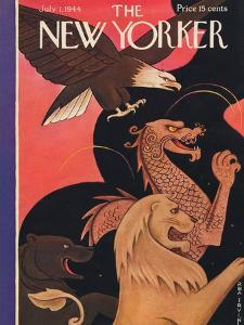 The New Yorker Cover - July 1, 1944 by Rea Irvin