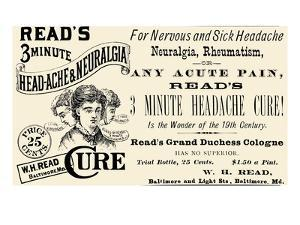 Read's 3 Minute Head-Ache and Neuralgia Cure