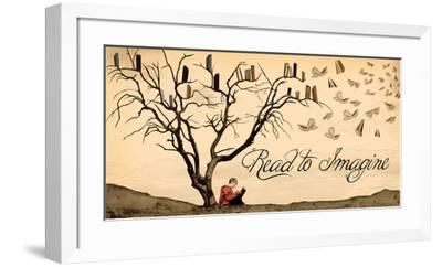 Read to Imagine-Jeanne Stevenson-Framed Art Print