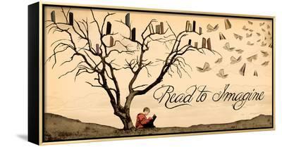 Read to Imagine-Jeanne Stevenson-Framed Canvas Print
