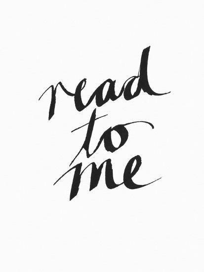 Read to Me BW-Linda Woods-Art Print
