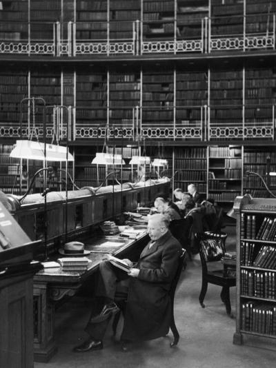 Readers in the Reading Room Have Access to One of the Largest Collections of Books in the World--Photographic Print