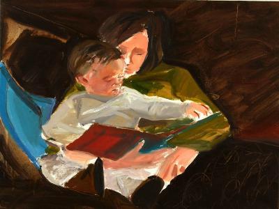 Reading, 2004-Daniel Clarke-Giclee Print